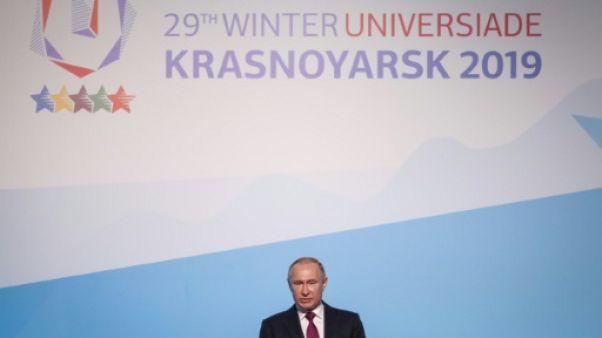 """Universiade d'hiver en Russie: Poutine salue une """"fête de l'amitié et de la lutte honnête"""""""