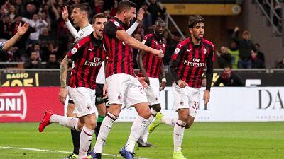 1-0 al Sassuolo, Milan scavalca Inter