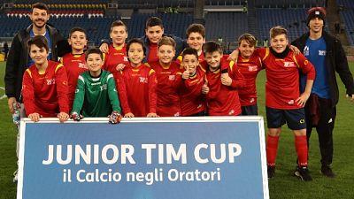 Junior Tim Cup in campo prima Lazio-Roma