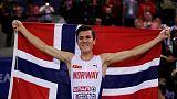 Teenager Ingebrigtsen wins again as Norway thrive