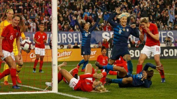Foot dames: les Etats-Unis encore tenus en échec dans la SheBelieves Cup