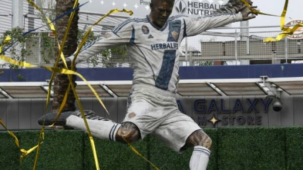 MLS: David Beckham a sa statue devant le stade du Los Angeles Galaxy