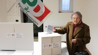 A 104 anni vota per nuovo segretario Pd