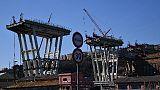 Ponte Genova, si taglia terzo impalcato