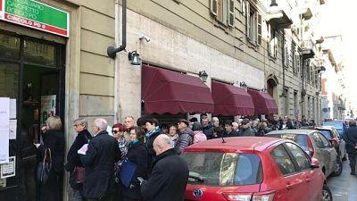 Primarie Pd: code ai seggi a Roma