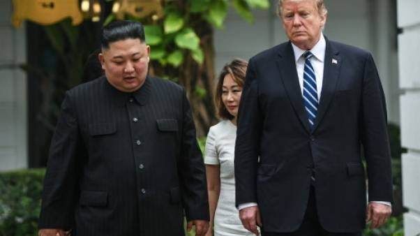 Kim Jong Un et Donald Trump à Hanoï, au Vietnam, le 28 février 2019