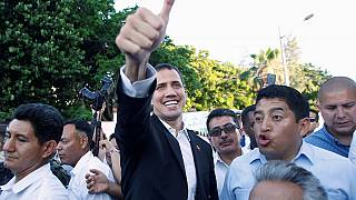 Venezuela's Guaido begins journey home from Ecuador
