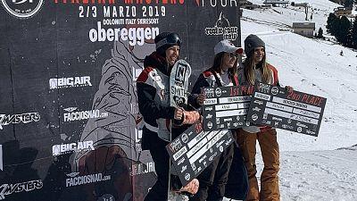 Italian snowboard tour a Obereggen
