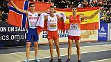 Euro d'athlétisme en salle: Lewandowski dompte Ingebrigtsen sur le 1500 m
