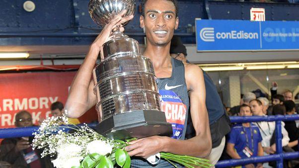 Ethiopian Kejelcha smashes world indoor mile record