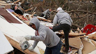 Like 'giant knife,' tornadoes slash eastern Alabama, killing 23