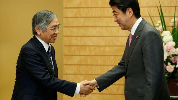 Japan PM Abe: Trust Kuroda's ability, leave monetary policy up to him