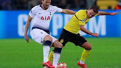 Kane scores in Dortmund as Tottenham stroll into last eight