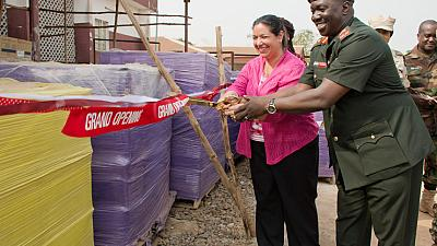 U.S. Ambassador Hands Over Personal Protective Equipment to the Republic of Sierra Leone Armed Forces (RSLAF)