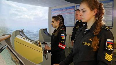 Female naval cadets say Russia not ready for women in combat roles