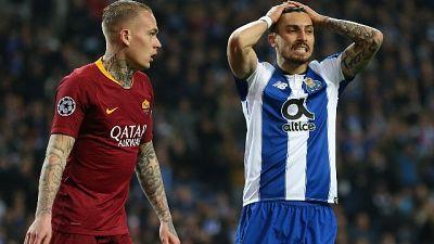 Porto-Roma 3-1, giallorossi eliminati