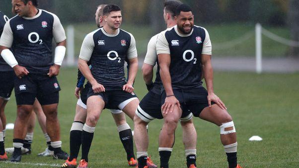 Rugby - Cokanasiga and Te'o start as England go big against Italy