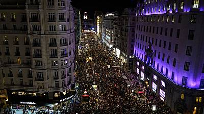 Hundreds of thousands take to Spanish streets for International Women's Day