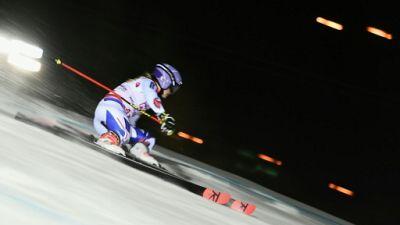 Tessa Worley lors du slalom géant d'Are, en Suède, le 14 février 2019