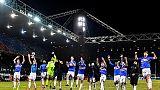 Sampdoria in campo con maglia storica