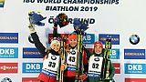 Mondiaux de biathlon: Kuzmina sacrée sur le sprint, les Françaises hors du coup