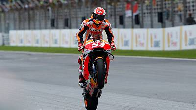 Motorcycling - Marquez on record pace in Qatar practice