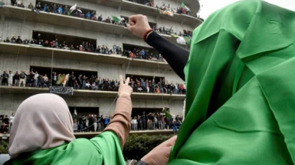 Manifestation dans les rues d'Alger le 8 mars  2019