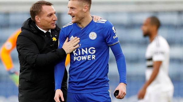 Milestone Vardy double gives Leicester 3-1 win over Fulham