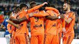 ليون يهدر الفوز ويتعادل 2-2 مع ستراسبورج واصابة مارسيلو