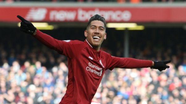 Angleterre: Liverpool revient sur Manchester City grâce à Firmino et Mané