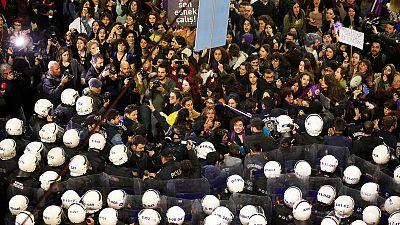 Erdogan accuses women's march of disrespecting Islam