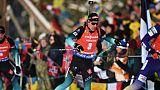 Biathlon: 2e médaille de bronze d'affilée pour Fillon-Maillet en poursuite, la surprise Pidruchnyi