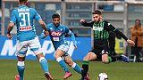 Serie A: Sassuolo-Napoli 1-1, Juve a +18