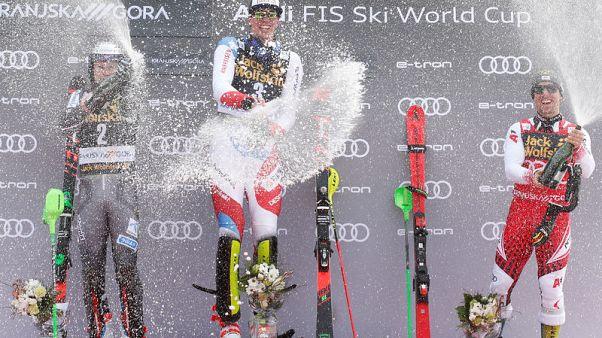 Alpine skiing - Hirscher wins eighth successive World Cup title