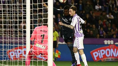 Madrid players left in dark as Valladolid lights go out