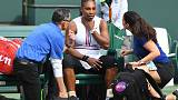 Serena Williams retires from Indiana Wells match