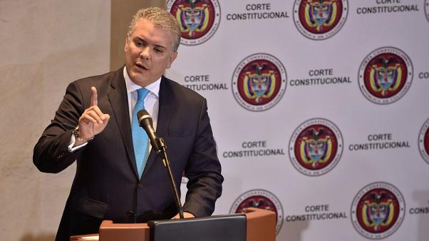 Colombia's Duque to return peace legislation to congress