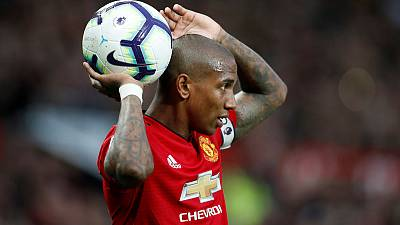 Man United's Young wants more player protection after pitch invasion