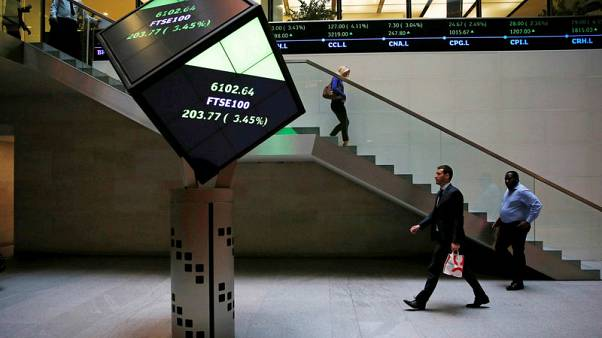 FTSE rise as financial shares gain on M&A reports