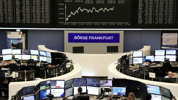 European shares bounce back helped by bank merger talk