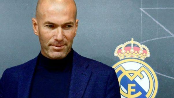Zinédine Zidane en conférence de presse à Madrid, le 31 mai 2018