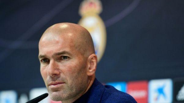 Zinédine Zidane lors d'une conférence de presse à Madrid, le 31 mai 2018