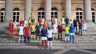 Nike unveils 14 national kits in women's World Cup push