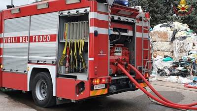 Sequestro area incendio rifiuti Perugia