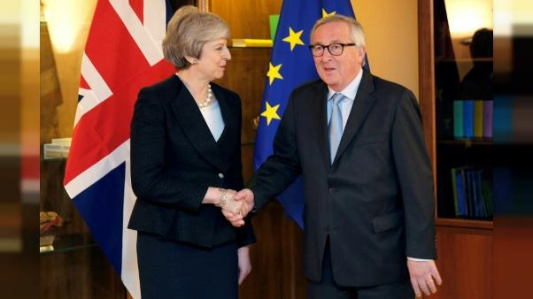 Jean-Claude Juncker et Theresa May à Strasbourg le 11 mars 2019