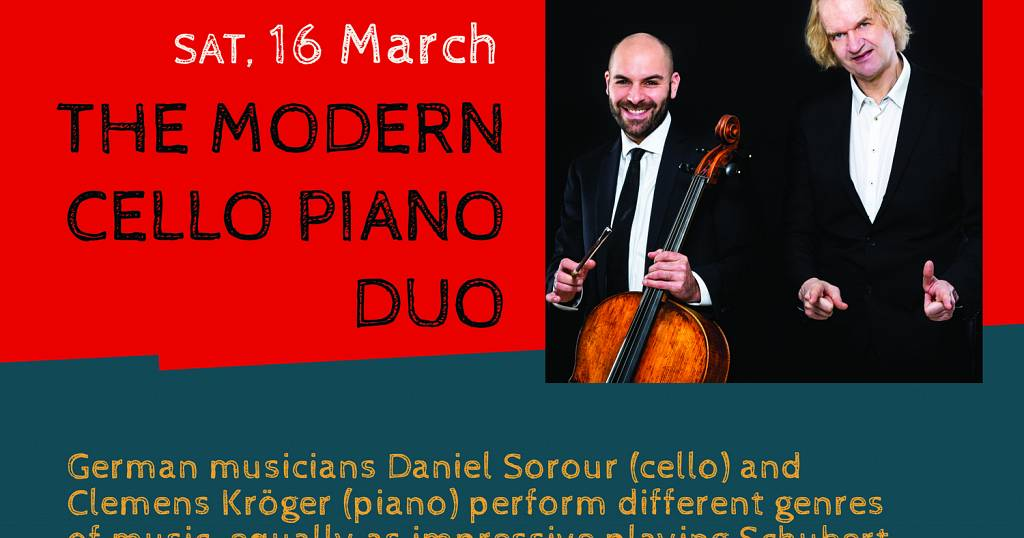 """Virtuosity times two: """"The Modern Cello-Piano Duo"""" in"""
