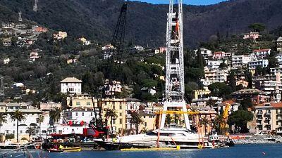 Yacht Berlusconi, via a recupero