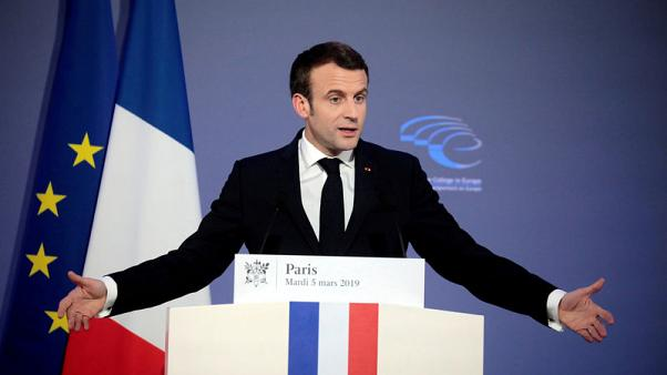 Macron's party rules out joining EU centrist group after Le Pen accusations