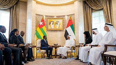 His Highness Sheikh Mohamed bin Zayed receives President of Togo