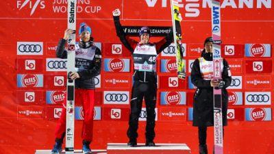 Saut à ski: Kobayashi étrenne son globe de cristal avec une 3e place à Lillehammer